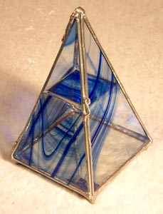 Reamy Blue Pyramid Box has the soothing flow of water