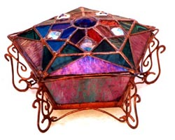 Star Design Glass Jewelry Box