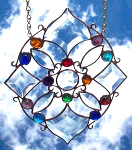 The Daydreams Mandala features a large crystal jewel in the center