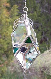 All Beveled Diamond style Water Prism has the rainbow sequence added to each facet of glass.