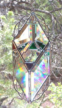 This prism has stained glass pieces added