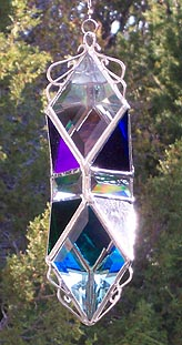 One of our most elegant Water Prisms accented with the cool colors
