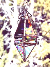 Pendant 5 Water Prism with beveled band