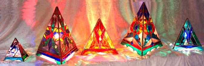 Click to View our Pyramid Lamps Gallery at WaterPrisms.com